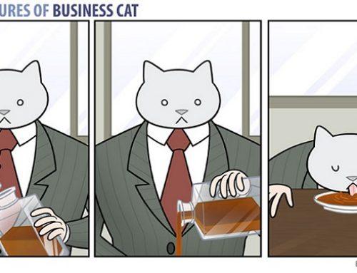 El cómic que muestra lo que pasaría si tu jefe fuera un gato